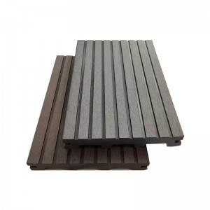 Factory wholesale Embossed WPC decking - Anti-Slip Wood Plastic Composite WPC Solid Decking – Lihua