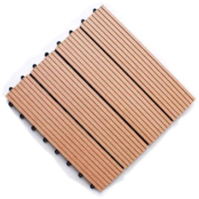Eco Friendly WPC Swimming Pool Around Areas Outdoor DIY Interlocking Composite Decking Tiles