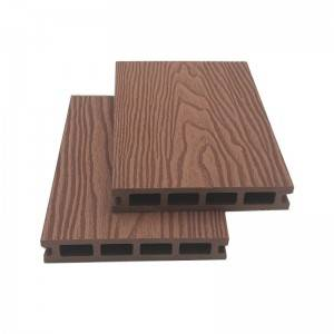 Reasonable price solid WPC decking - 3D Deep Embossed Waterproof composite WPC Hollow Decking – Lihua