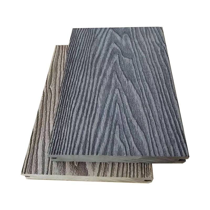 3D Wood Deep Grain Embossed Wood Composite Solid Decking