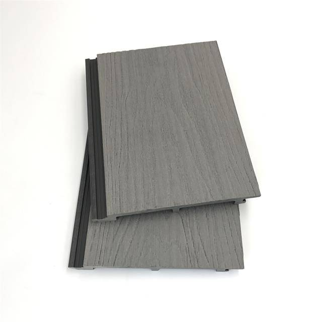 China manufacturer 3D embossed 157x16mm fireproof wood plastic composite WPC wall cladding
