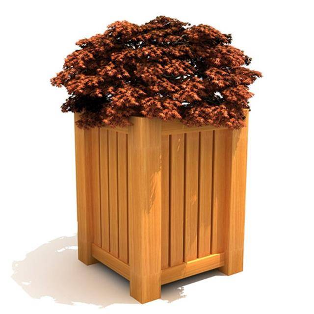 Waterproof Composite Wooden WPC Flower Pot For Garden Park Featured Image