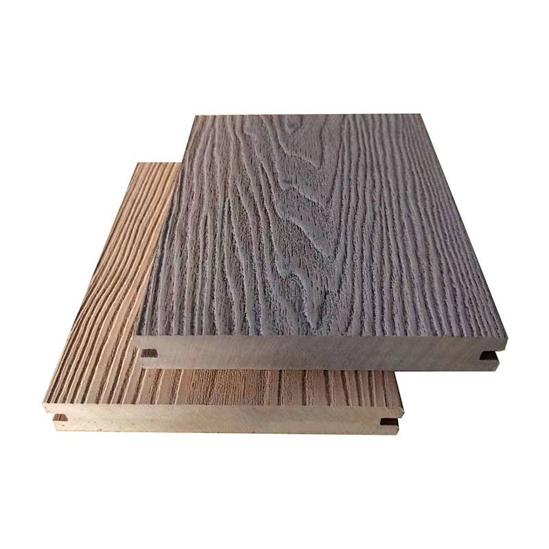 Outdoor Wood Deep Grain Embossed Waterproof WPC Solid Decking