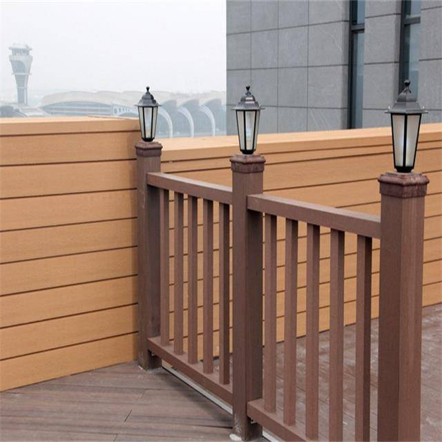 China wholesale WPC composite handrail waterproof WPC outdoor balustrades