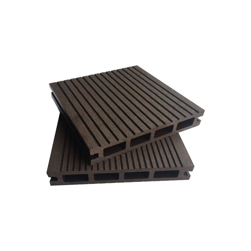 Outdoor Fireproof Wood Composite WPC Hollow Decking