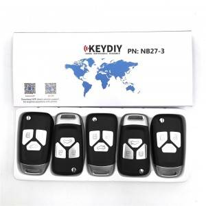 KEYDIY NB series NB27-3 button universal remote control 5pcs/lot for KD-X2 mini KD