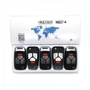 KEYDIY NB series NB27-3+1 button universal remote control 5pcs/lot for KD-X2 mini KD