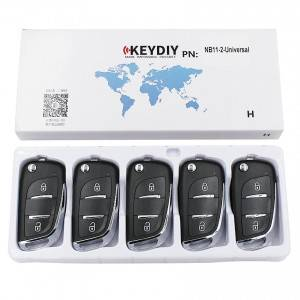 KEYDIY NB series NB11-2 button universal remote control 5pcs/lot for KD-X2 mini KD
