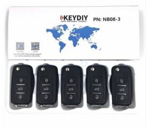 KEYDIY NB series NB08 3 button universal remote control 5pcs/lot for KD-X2 mini KD