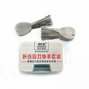 LOCKSMITHOBD HUK 20IN1 Set Double Sided Padlock Picks