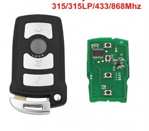 LOCKSMITHOBD BMW 7 SERIES 4 buttons CAS1 FULL remote key Fob WITH CHIP ID7944/ID46