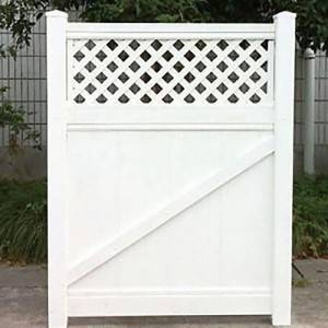 Privacy Fence White Lattice gate