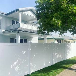 6ft x 8ft White Vinyl Plastics Privacy Fence For Garden