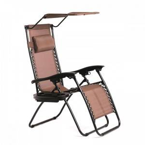 PriceList for Metal Garden Furniture - Zero Gravity Chair Folding Beach Chair with Sunshade and better Lock – Luqi
