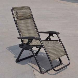 2019 China New Design Wicker Outdoor Furniture - Luxury square tube Zero Gravity Chair with special fabric – Luqi