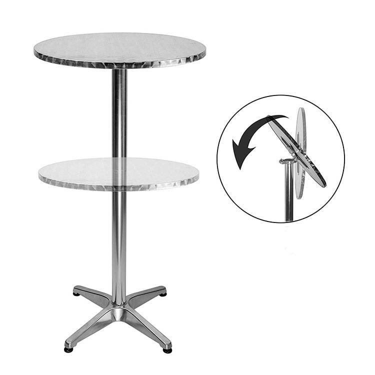 OEM/ODM China Aluminum Outdoor Furniture - Alum. Bar Table(rolled edge for water proof) – Luqi