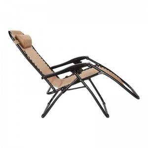 China Garden Furniture Clearance Pricelist - Conventional Zero Gravity Chair with oxford fabric – Luqi