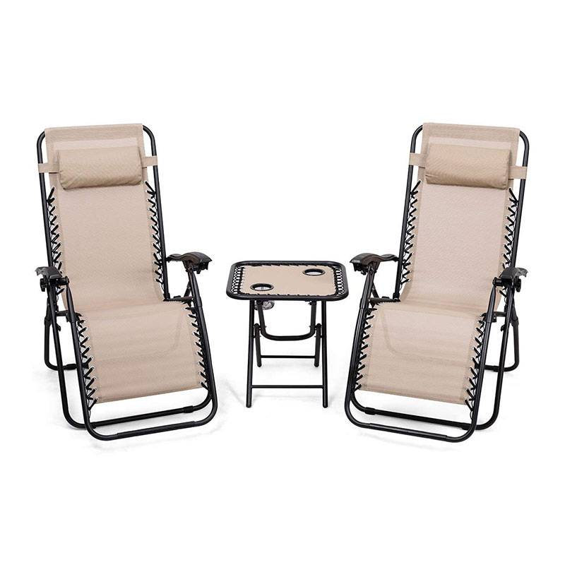 China Patio Furniture Clearance Pricelist - 2 in1 SET Zero Gravity Chair with a small table – Luqi