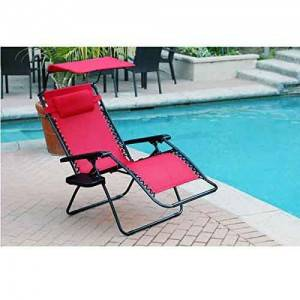 Zero Gravity Chair Folding Beach Chair with Sunshade