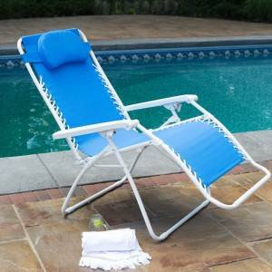 OEM Supply Discount Patio Furniture - Zero Gravity Chair with different pillow and white color tube – Luqi