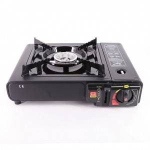 China Galaxy 4 Burner Gas Cooker Factories - Cassette Grill Portable Gas Stove Furnace Barbecue Tool with Plastic Hand Box for Camping Outdoor – Luqi