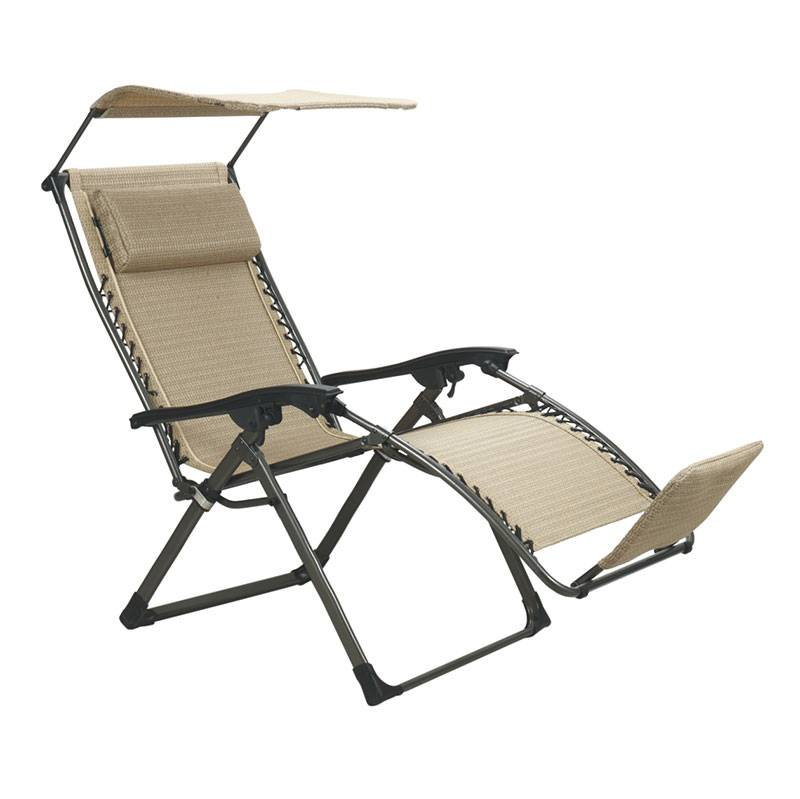 Manufacturer for Outdoor Patio Furniture - Luxury square tube Zero Gravity Chair with Sunshade, foot pad and special fabric – Luqi