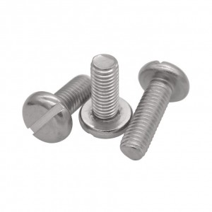 304 stainless steel DIN85 Slotted pan head screws ISO1580 Slot head screws
