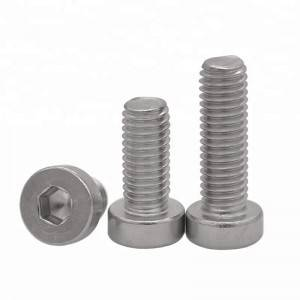 Stainless Steel SS304 Low Head Hex Socket Cap Screw ANSI/ASME B 18.3
