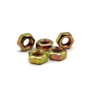 Hot Sale Fastener Color Plated Hex Nut, Coated Nuts