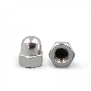 Fastener Stainless Steel 304 Hexagon Domed Cap Nut DIN1587
