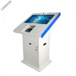 32 inch Interactive Self Check in Kiosk Hotel with Key Card Dispenser