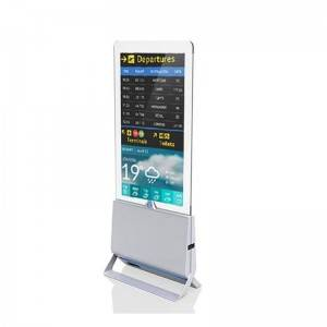 Floor Standing True FHD 4K Ultra Thin Double-sided Digital Signage with Tempered Glass