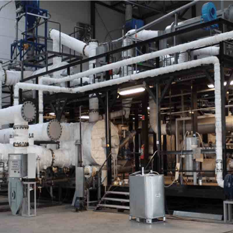 Domestic waste pyrolysis plant