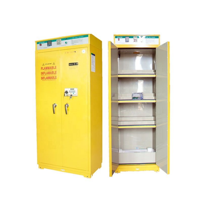Tall Chemical Storage Cabinet with doors