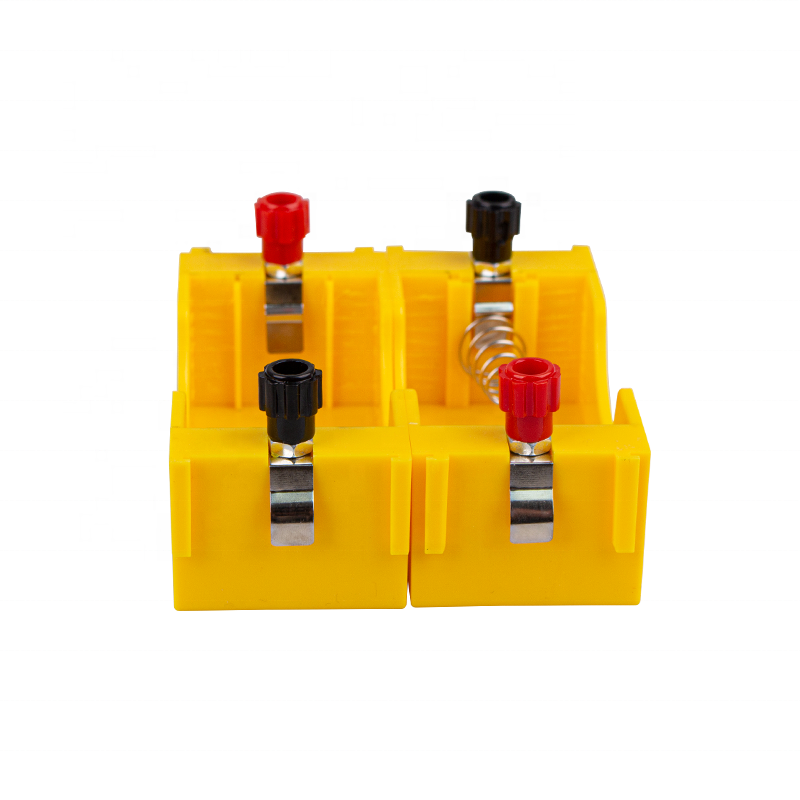 Good Quality School Laboratory Equipment - yellow copper contact 4 d type cell battery holder – Lianying