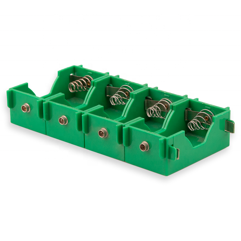 green plastic small 4 d size cell battery holder