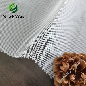 2021 China New Design Stretch Knit Fabric - 100 Polyester quadrangle grid square mesh warp knitted fabric for fruit or shopping bag – Liuyi