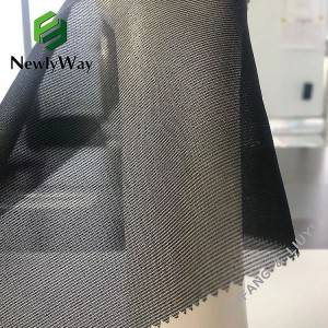 Factory source Pink Mesh Fabric - Lightweight black nylon spandex mesh tricot knit fabric for bra back clasp material – Liuyi