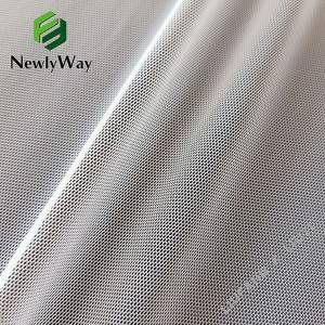 Best Price on Crystal Mesh Fabric - Newly launched white nylon spandex stretch mesh knit fabric for underwear – Liuyi