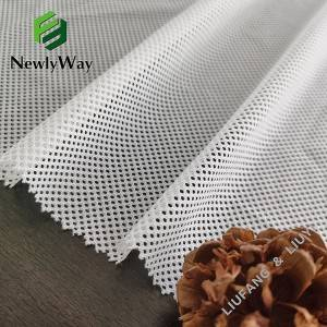 Good quality Nylon Net Fabric - Popular white nylon and spandex tricot knit mesh fabric for sportswear lining – Liuyi