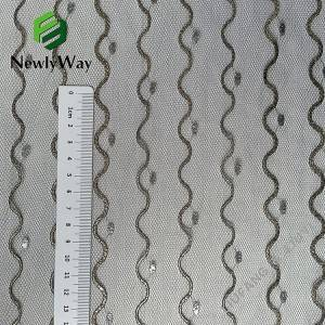 Super quality nylon metallic thread tulle mesh knit fabric for wedding  accessories