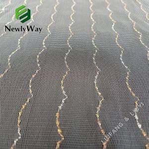 Wholesale metallic yarns nylon mesh knit tulle fabric for accessories