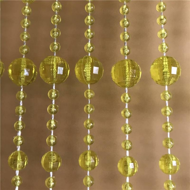 Fashion Chandelier Centerpiece Handmade Hanging Crystal Chain Beaded Valance Curtains For Windows