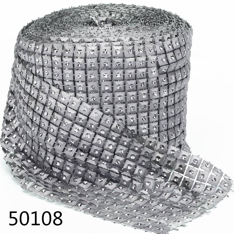 12 Rows 10 Yards Wholesale Cheap Price Block Decorative Rhinestones Mesh Trim Diamond Net Ribbon Wrap Decorative
