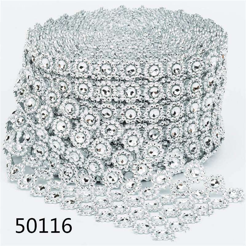 Factory Customized Best Crystal Rhinestone Mesh Ribbon Trimming Garment Accessories