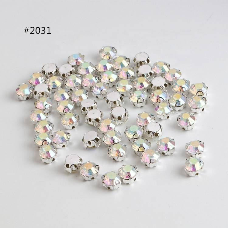 Sew on Rhinestone AB 3D Claw Crystal Stone