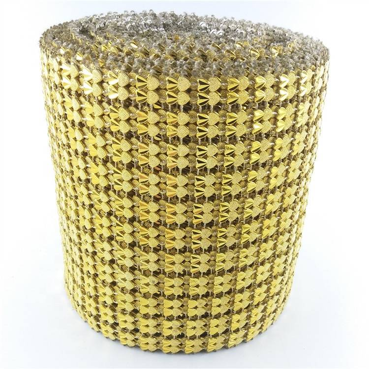 11 rows Plastic Rhinestone Diamond Ribbons Mesh Trimming for Party Wedding Decoration Supplies