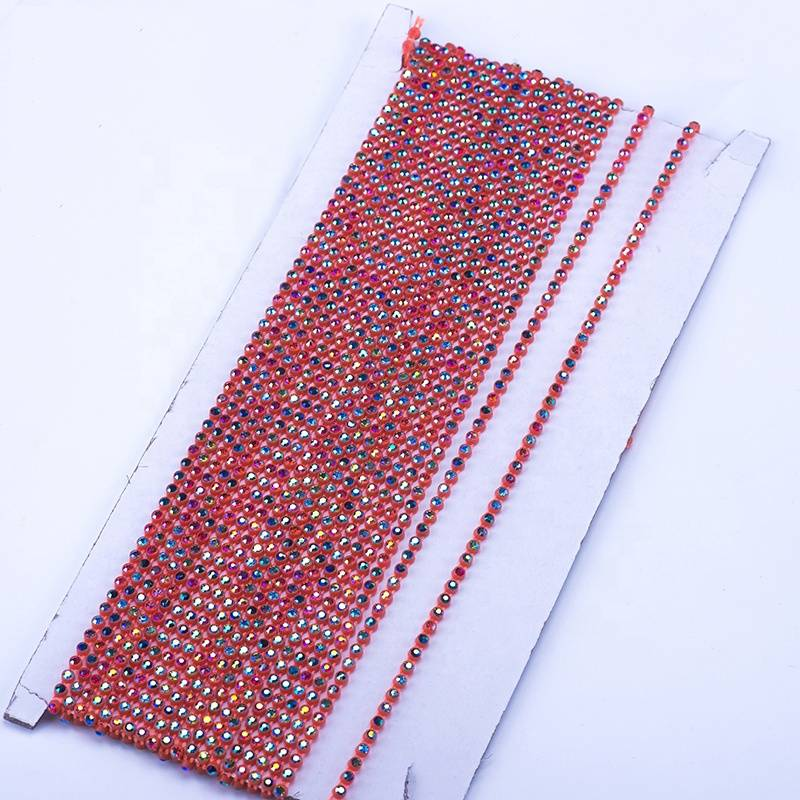 3.1mm Custom and Wholesale Clothing Decoration and Decoration Orange Red Bottom AB Color Rhinestones