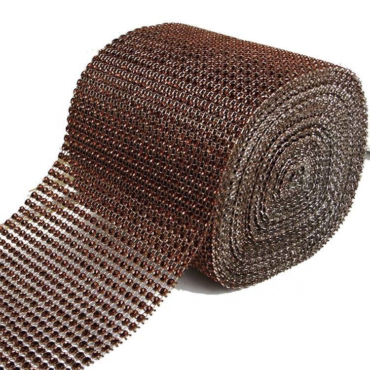 China Manufacturer for Silver Rhinestones - High Quality Factory Good Price Cup Chain Brown Net Plastic Rhinestone Mesh – Erjiao