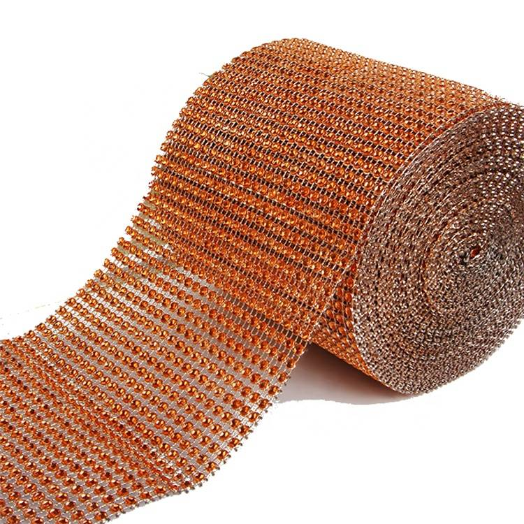Wholesale Factory High Quality Trim Cup Chain Hot Fix Rhinestone Mesh